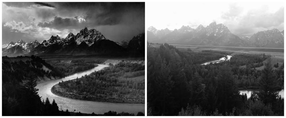Ansel Adams Snake River Tetons