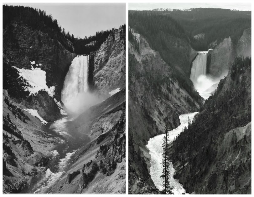 Ansel Adams Yellowstone Falls