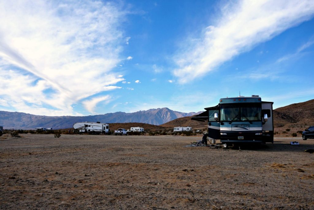 RVs in Anza Borrego