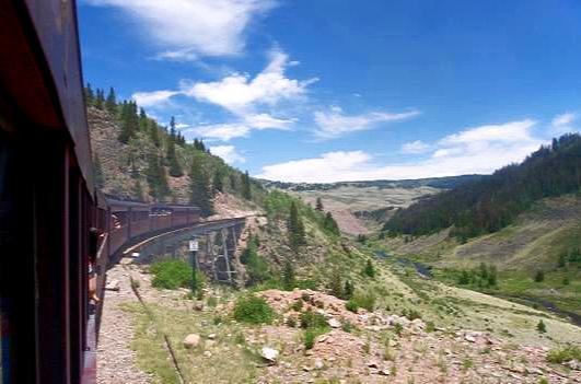 Train Crossing High Trestle