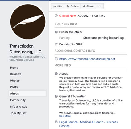 Freelance Business Facebook Page